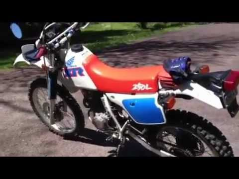 1991 Honda XR250L kick started and  running