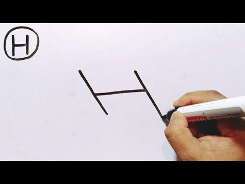 How To Draw A BiCycle Using The Letter H | How To Draw A BiCycle Easy Step By Step For Beginners thumbnail