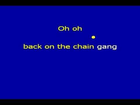 Back on the Chain Gang (karaoke) - in the style of The Pretenders