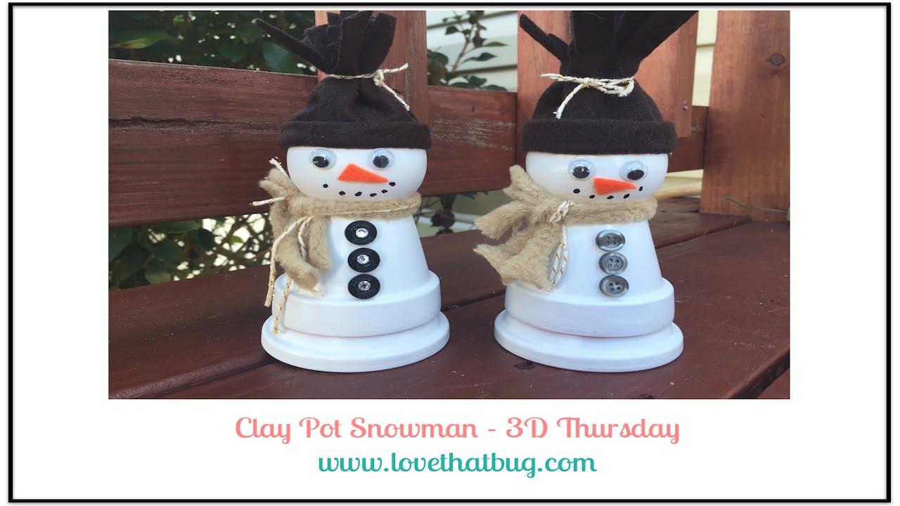 Nice DIY Snowmen from Terra Cotta Pots