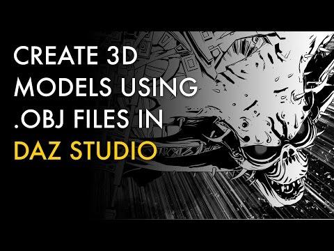Create 3D Models Using OBJ Files in DAZ Studio