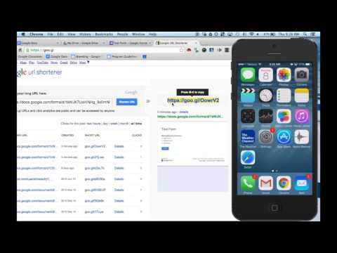 How to link a Google Form to an IOS device's home screen - YouTube