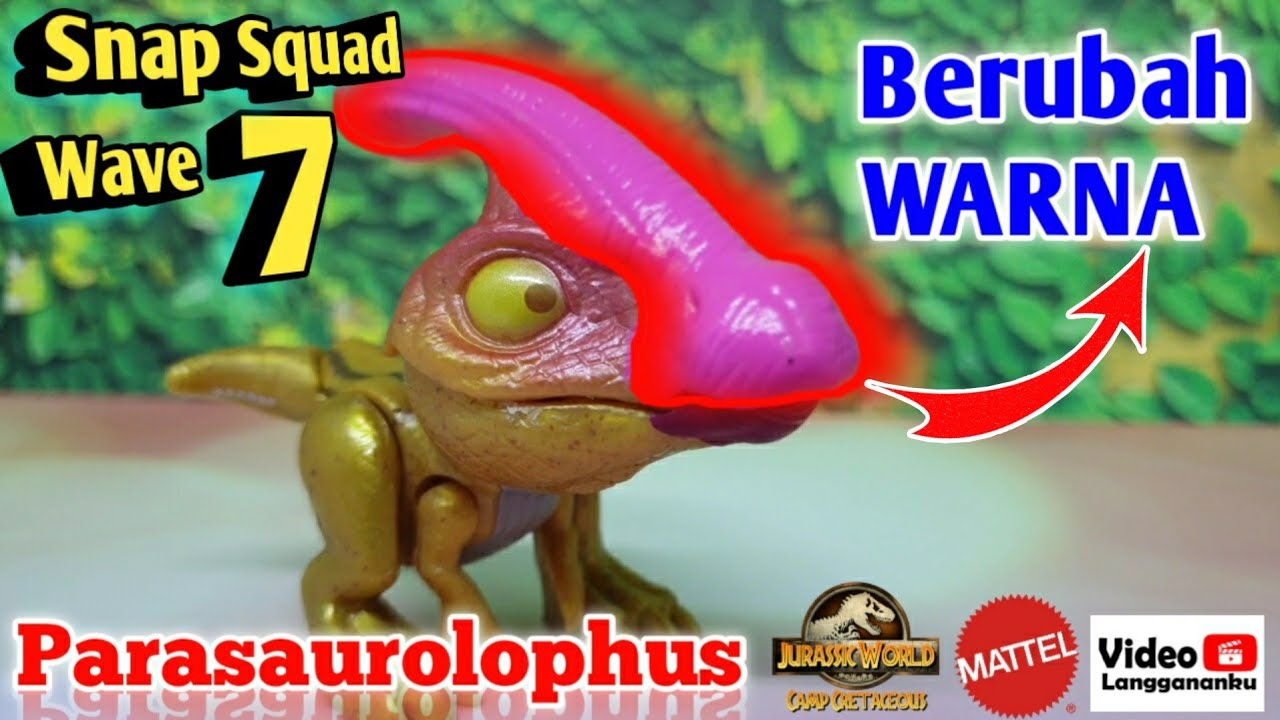 NEW 4x LOT Jurassic World Snap Squad Camp Cretaceous Metallic Dinosaurs Wave 7