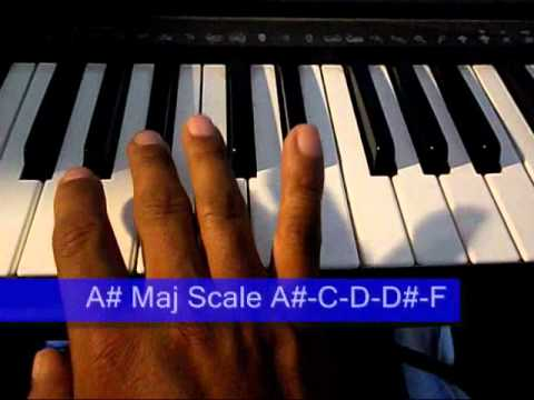 Online Piano Lesson 13: A# or Bb Major Scale & Chord