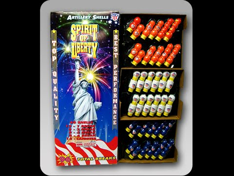 Fireworks Demo (Artillery Shells) - Spirit of Liberty (AFW) - 4 Shells (Single/Double/Triple/Quad)
