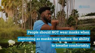 People should NOT wear masks while exercising