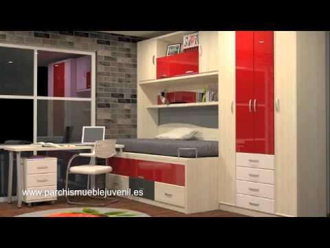 Dormitorios juveniles madrid habitaciones juveniles for Muebles para espacios reducidos living