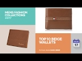 Top 10 Beige Wallets Mens Fashion Collections 2017