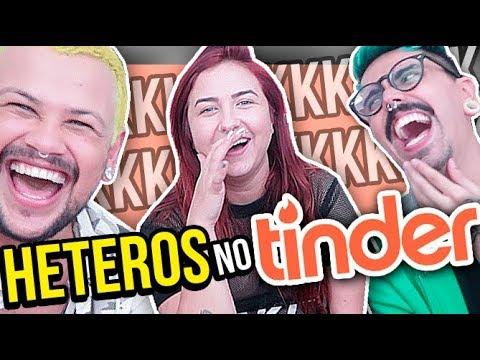 HETEROS fazendo HETEROZISSES no TINDER feat. Mariana Torquato   Diva Depressão