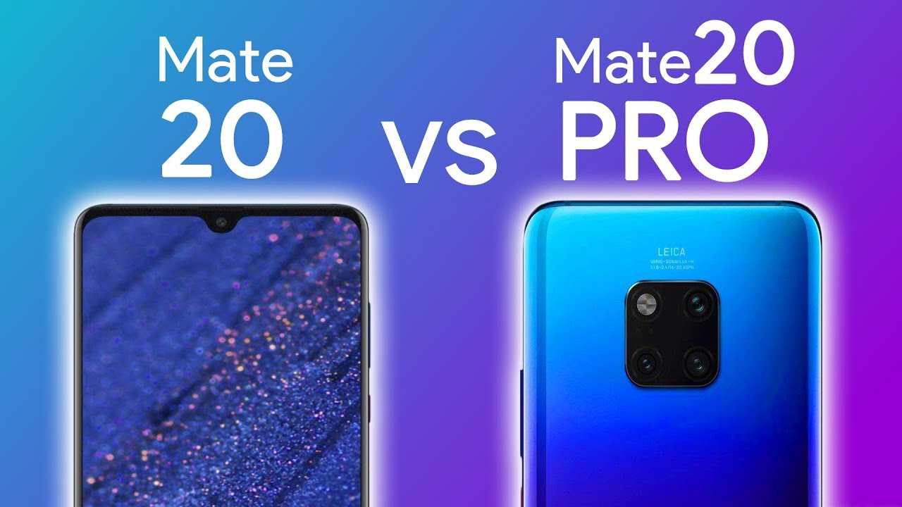 huawei mate 20 vs 20 pro caracter sticas youtube. Black Bedroom Furniture Sets. Home Design Ideas