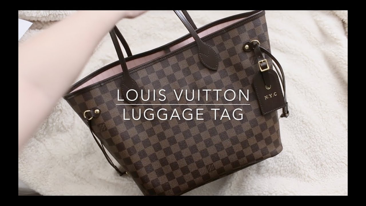 a9835bde5af4 Louis Vuitton Luggage Tag and Zodiac Hot Stamping - YouTube