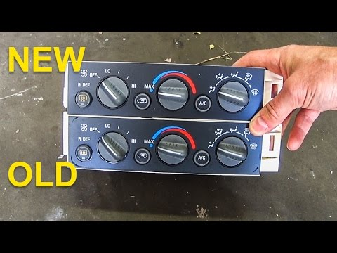 Air Conditioning Control Panel  1995 to 1999 Suburban  Tahoe  Yukon     Sierra     Silverado  YouTube