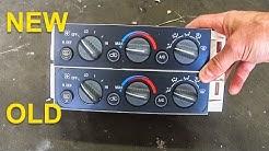 Air Conditioning Control Panel - 1995 to 1999 Suburban, Tahoe, Yukon, Sierra, Silverado