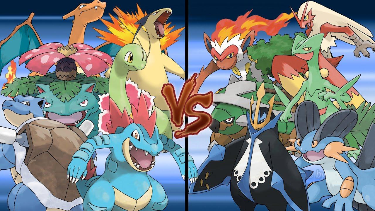 Pokemon Battle of the Starters: Kanto and Johto Starters ...