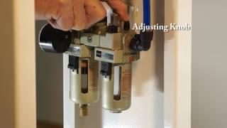 PPFE 1000 Air Pressure Regulator  Water Separator and Automatic Oiler