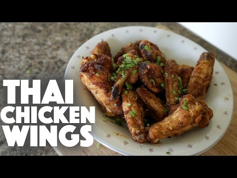 Thai Spicy Chicken Wings – appetizer recipe – hot wings – buffalo wings-baked chicken wings-grilling