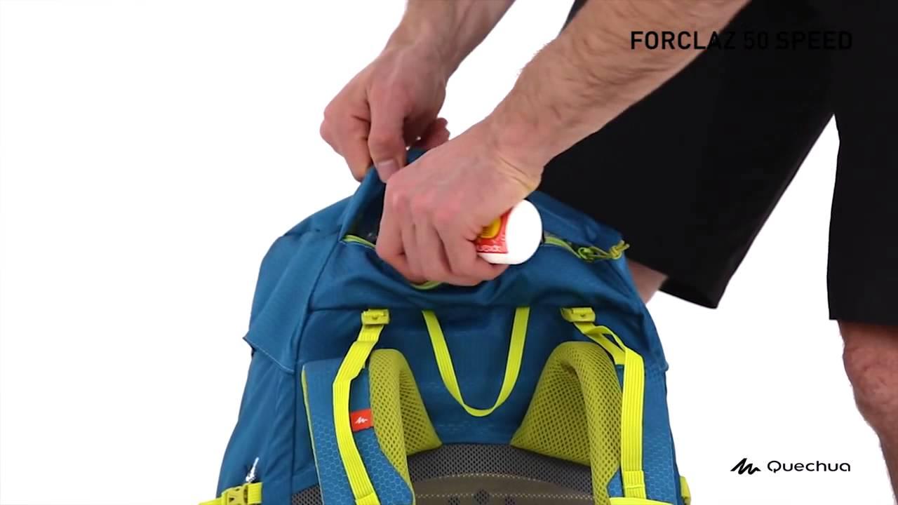 3b247f9d0 Mochila Forclaz 50 Speed Quechua - Exclusividade Decathlon - YouTube