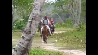 Horse Back riding at Playa Rincon, with Rudy