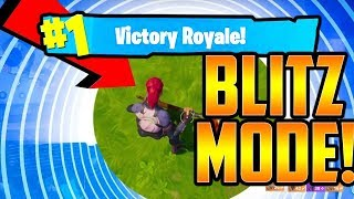 HOW TO WIN in *NEW* BLITZ GAME MODE EVERY TIME! (Fortnite Battle Royale)