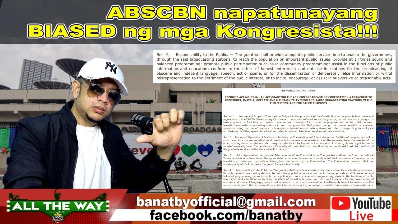ABSCBN napatunayang BIASED ng mga Kongresista!