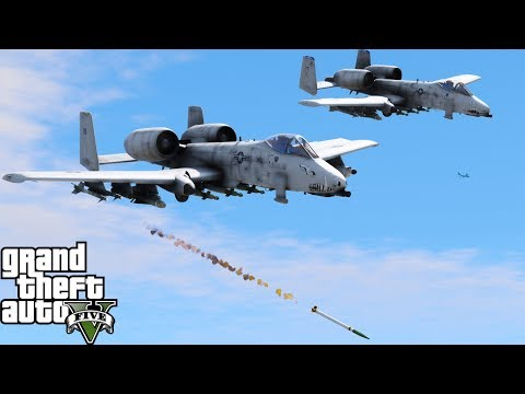 "GTA 5 LSPDFR Military Patrol | A-10A Thunderbolt ""Warthog"" Destroying Tanks Attacking Our Base"