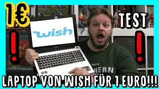 Wish Laptop für 1 Euro !!  | Notebook für 1€ | wish app TEST | #wish #laptop #notebook