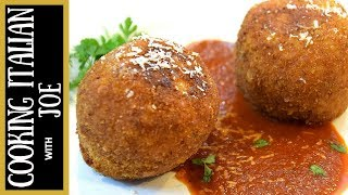 Sicilian Stuffed Rice Balls With Goat Cheese Arancini Cooking Italian With Joe