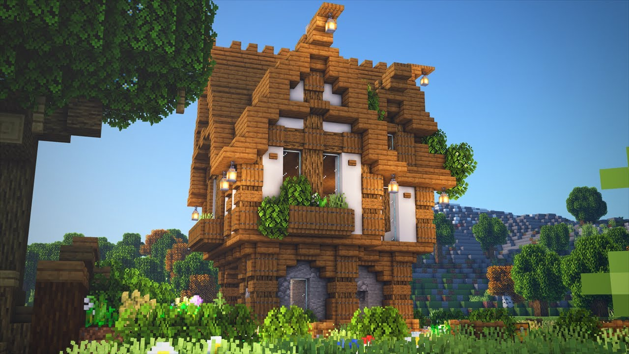 Minecraft   How to Build a Medieval Survival House