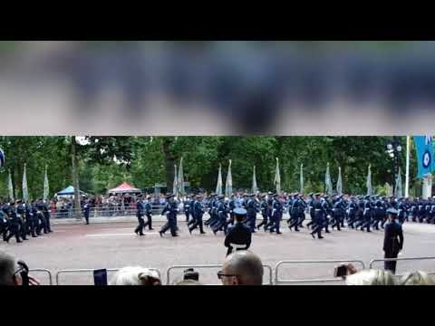RAF Centenary March Past. The Mall  London July 2018.
