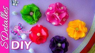 Flores de Tela de 8 Pétalos / 8 Petals Flowers   Video# 19   SDetalles   DIY