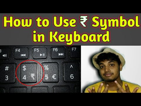 How to Use Rupee Symbol in Keyboard # Trending Tech Zone # 2018