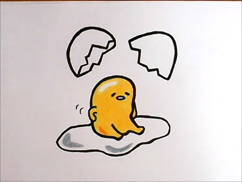 How To Draw Gudetama Japanese Character Youtube