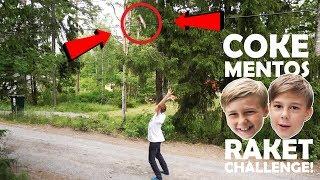 COKE MENTOS RAKET CHALLENGE! *fett blöta!*