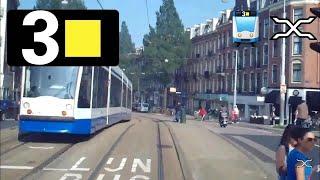 GVB Amsterdam Tramlijn 3 Cabinerit Zoutkeetsgracht - Muiderpoortstation