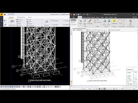 How To Create Drawings Inserting Title Block And Exporting To PDF | Tekla Structures