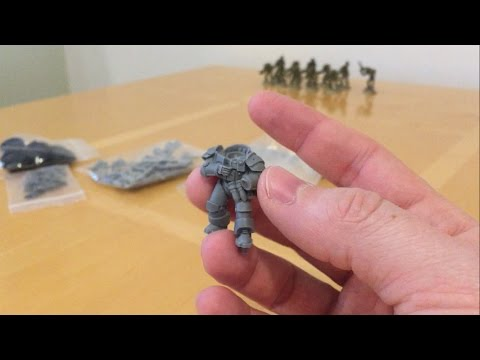 Resin Miniatures for Horus Heresy Militia: Anvil Industry Out of The Pack Review