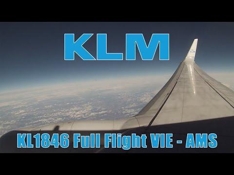FULL FLIGHT KLM Boeing 737 from Vienna to Amsterdam | KL1846