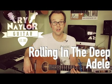 Rolling In The Deep - Adele - Beginner Guitar Tutorial Lesson