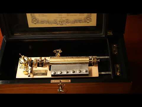 Reuge 72 Note Multi Cylinder Music Box Playing Sleeping Beauty