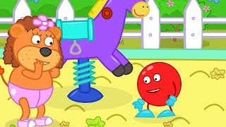 Lion Family All the Swings Ran Away Cartoon for Kids