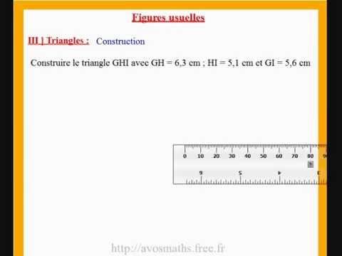 6ème cours de maths et exercices sur la construction d'un ...