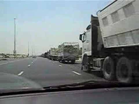 Dubai Trucks on Emirates Road