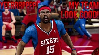 NBA 2K12 CAL Mode - My Team Looks Good On Paper | Andrew Bynum & Jason Richardson Welcome To Philly