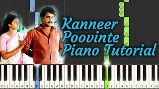 Kanneer Poovinte Piano Tutorial NOTES & MIDI | Kireedam | Malayalam Song
