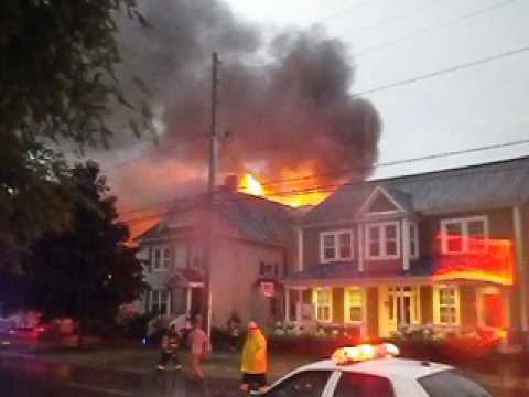 Blogger Charles LeBlanc first on the scene of HUGE House fire on Brunswick Street in Fredericton!