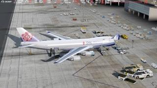P3Dv4  CAL5837  TPE—HKG  台北—香港   貨機班