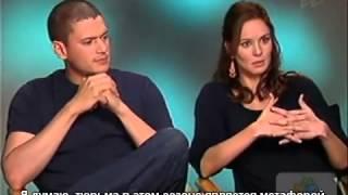 Вентворт и Сара о своих персонажах.