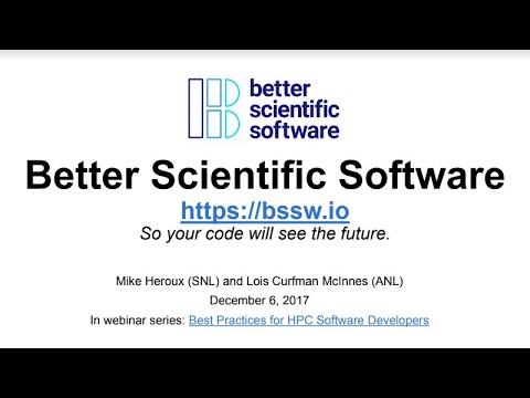 IDEAS ECP Better Scientific Software Webinar 12-06-17
