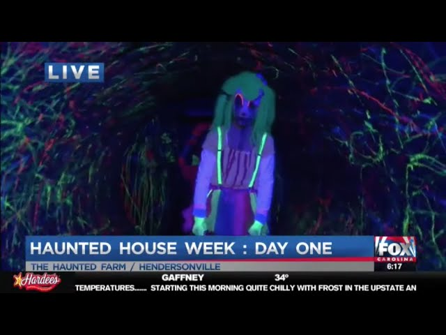 The Haunted Farm 2018 | Trixie meets Joe Gagnon on Fox Carolina News LIVE