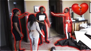 """CAUGHT CHEATING IN BED PRANK WITH CARMEN FROM """"CARMEN & COREY, NIQUE & KING"""" & GIRLFRIEND"""